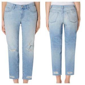 J BRAND Sadey Slim Straight Leg Destroyed Jeans 28